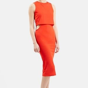 Topshop Orange Hip Cutout Dress Size 6